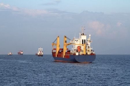 Cargo ship sailing the sea  photo