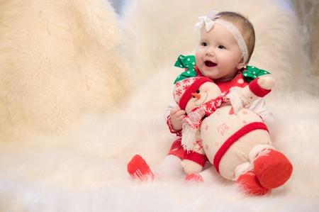 baby kerst: christmas baby Stockfoto