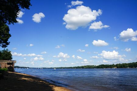 clouds at the river