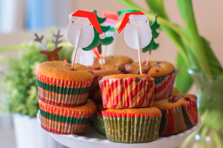 holiday tea with muffins photo