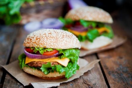 gourmet dinner: hamburguesa