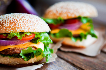 burger on bun: burger