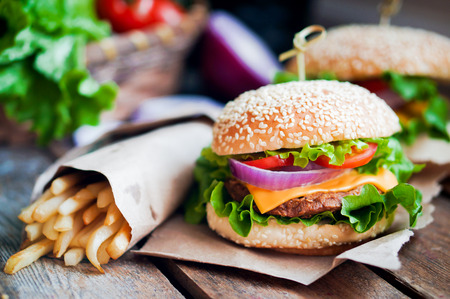 american food: burger