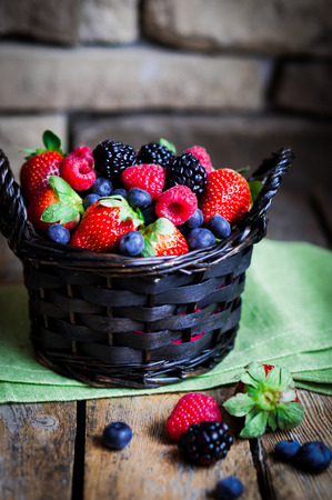basket of berries photo
