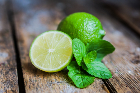 lime and mint Stok Fotoğraf