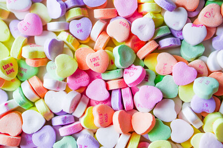 candy hearts: heart candies Stock Photo