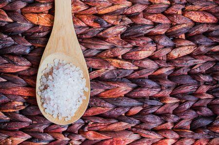 Closeup of pink himalayan salt