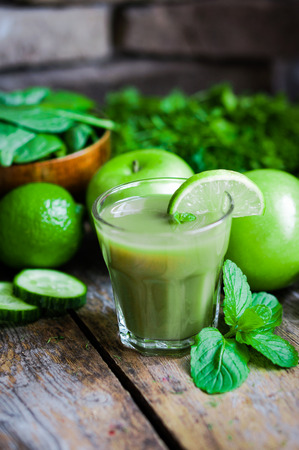 green smoothie Banco de Imagens