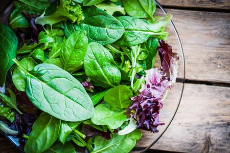 salad greens: salad mix