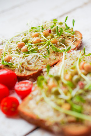 medicago: Healthy sandwiches Stock Photo