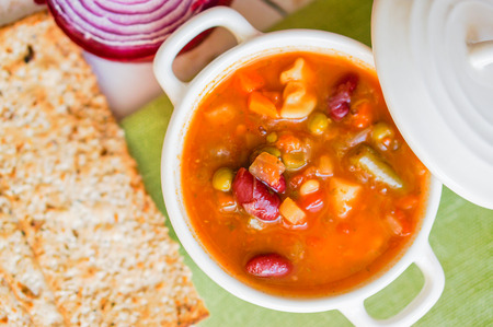 minestrone: minestrone soup Stock Photo
