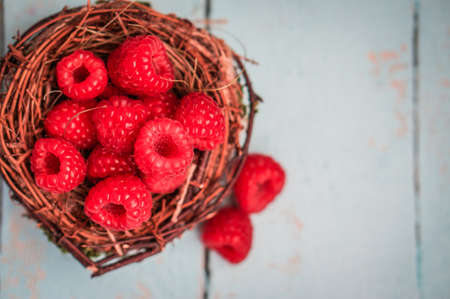 raspberries photo