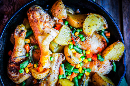 chicken with potatoes  photo