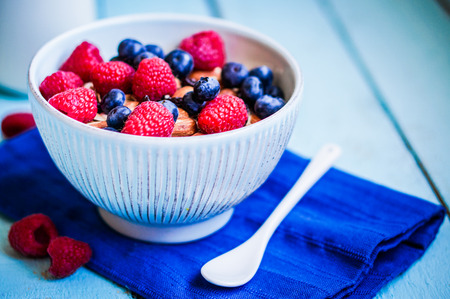 granola with berries photo