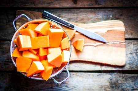 cubed: cubed pumpkin