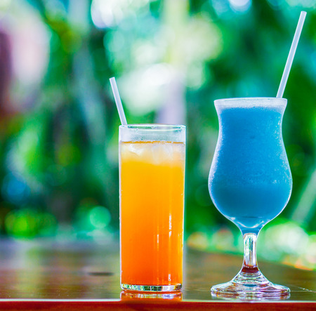 colorful cocktails photo