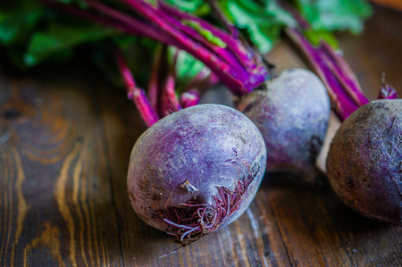 Beetroot on wooden background Banco de Imagens