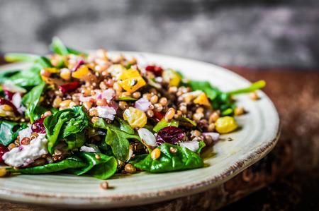 comida saludable: verduras fritas Foto de archivo