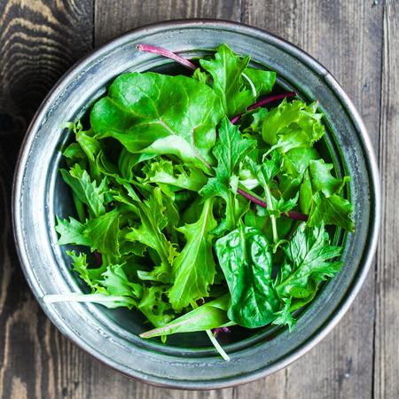 salad in plate: ensalada verde Foto de archivo