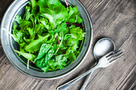 rustic food: green salad