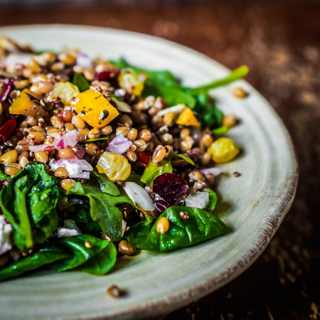 red quinoa: healthy salad