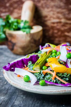 rocket lettuce: grilled vegetables Stock Photo