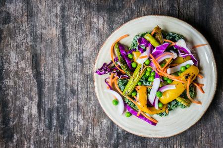 salad dressing: grilled vegetables Stock Photo