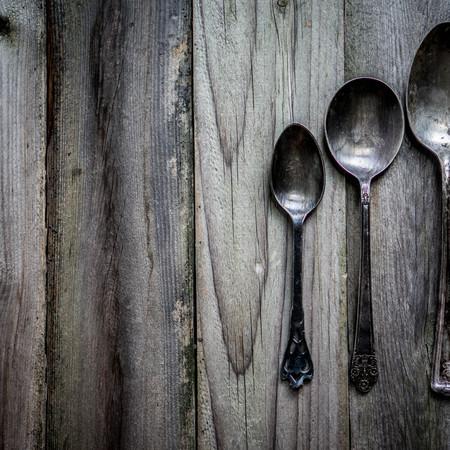 grunge flatware: rustic spoons