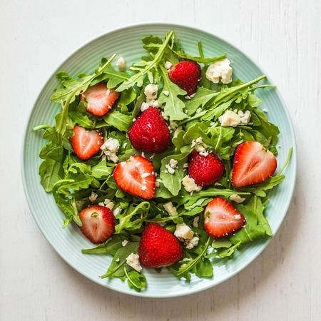 salad with strawberries photo