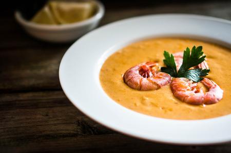 soup with shrimps