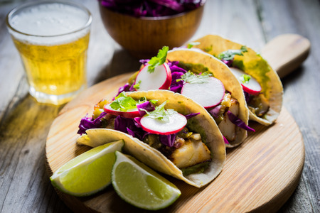 tacos: fish tacos Stock Photo