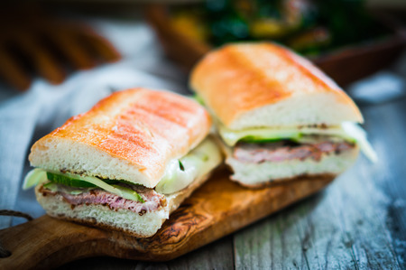 cuban sandwiches Stock Photo