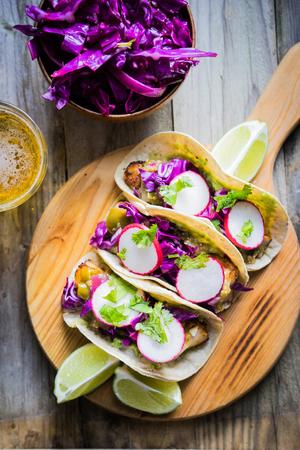 tacos: fish tacos Stock Photo