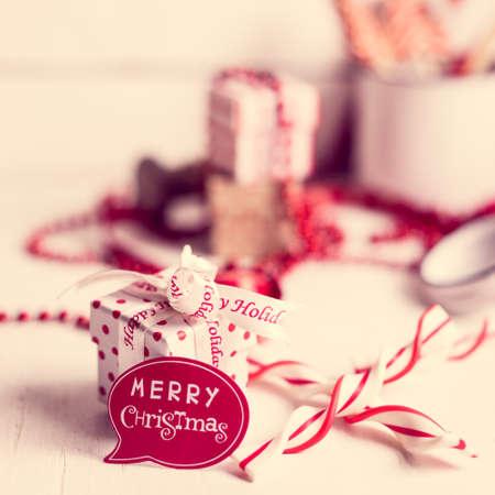 Christmas decoration with hot chocolate mug Banco de Imagens