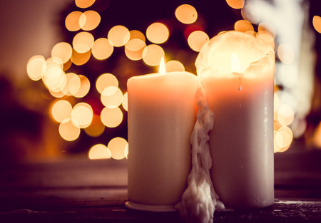 church service: Holiday candles