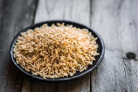 Raw brown rice