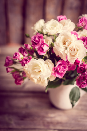 Roses in a vase Stock Photo