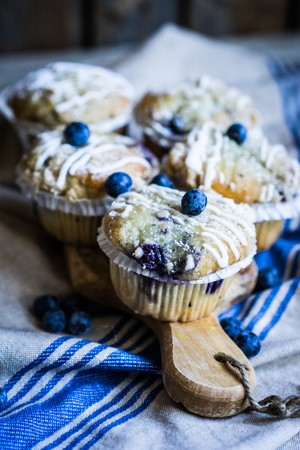 magdalenas: Muffins de ar�ndanos
