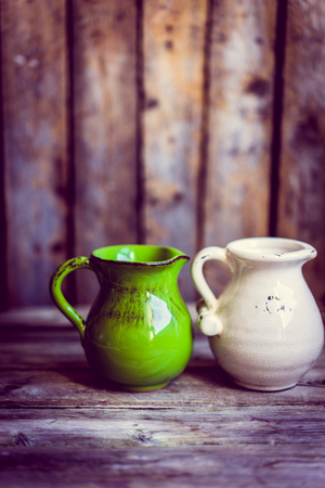 old items: Rustic vases Stock Photo