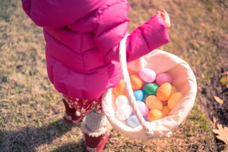 egg hunt: Egg hunt Stock Photo