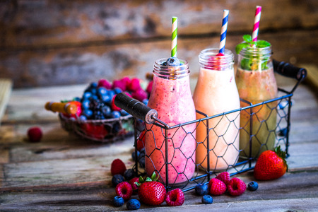 health drink: Fresh smoothies Stock Photo