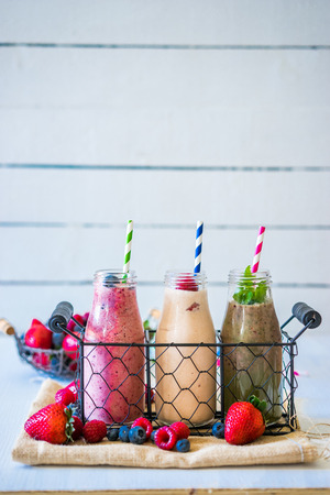 Fresh smoothies Banque d'images
