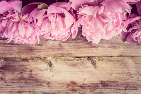 vases: Pastel peonies Stock Photo