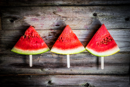 summer diet: Sliced watermelons