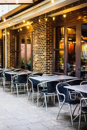 Cafe outdoors Stok Fotoğraf