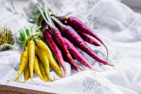 zanahoria: Zanahorias coloridas