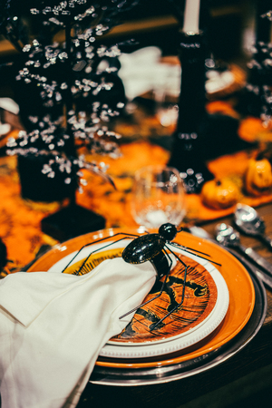 table decorations: Halloween table decorations
