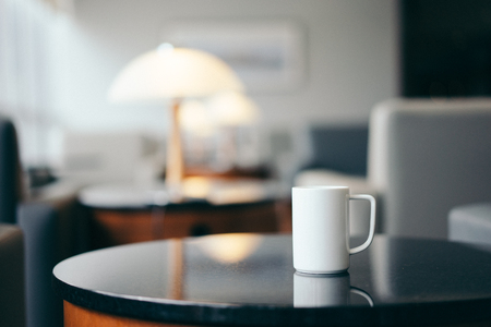 lounge: Cup of coffee in lounge cafe