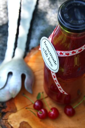 sour cherry: Sour cherry ketchup