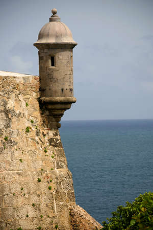 juan: Sentry tower on El Morro Fort in Old San Juan , Puerto Rico Landmark of Puerto Rico